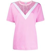 Escada Sport Lace Panel T-Shirt - Rosa