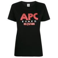 A.p.c. Camiseta Com Estampa De Logo - Preto