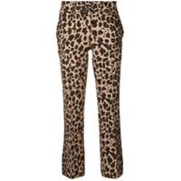 P.a.r.o.s.h. Calça Cropped Com Estampa Leopardo - Marrom