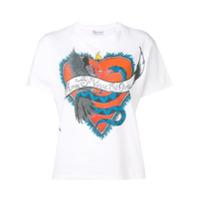 Red Valentino Camiseta Com Estampa Gráfica - Branco