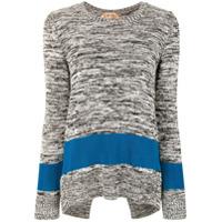 Nº21 Suéter Color Block - Cinza