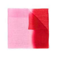 Emporio Armani Echarpe Com Transparências - Vermelho