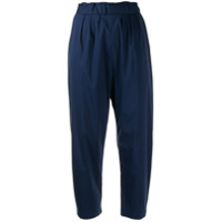 Guardaroba Loose Fit Cropped Trousers - Azul