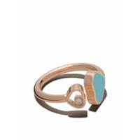 Chopard Anel 'happy Hearts' De Ouro Rosê 18K Com Diamante - Unavailable