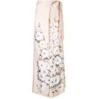 By. Bonnie Young Calça Pantalona Com Estampa Floral - Rosa