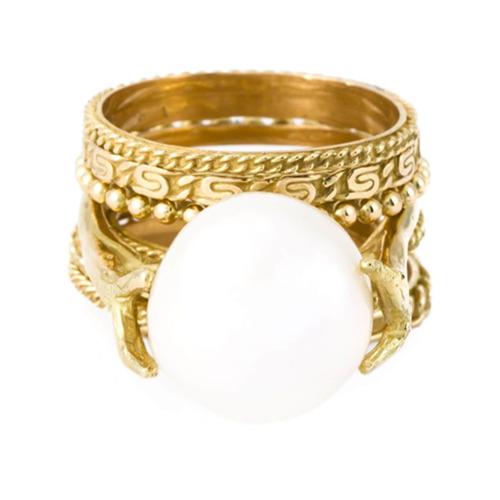 Imagem de Wouters & Hendrix Gold Conjunto com anéis de ouro - Branco