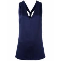Lanvin Blusa Com Decote Nadador - Azul