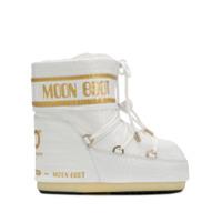 Moon Boot Bota De Neve Com Efeito Crocodilo - Branco