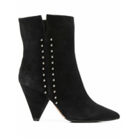 The Seller Ankle Boot De Couro Com Tachas - Preto