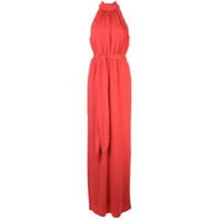 Halston Heritage Vestido Franzido - Vermelho
