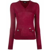 Dsquared2 Suéter De Tricô - Vermelho