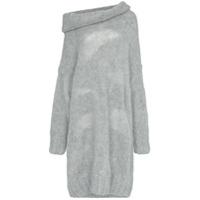 Poiret Vestido De Tricô - Cinza