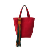 Alila Lugano Two-Tone Tote Bag - Vermelho