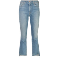 Mother Calça Jeans Bootcut Cropped - Azul
