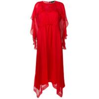 Irina Schrotter Vestido Longo Com Babado - Vermelho