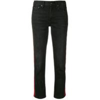 Polo Ralph Lauren Calça Jeans Slim Com Listras Contrastantes - Preto