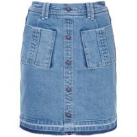 Aje Saia Jeans Com Bolsos - Azul