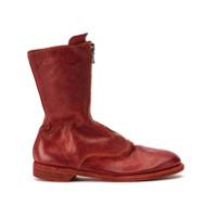 Guidi Ankle Boot Com Zíper - Vermelho