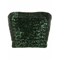 Andamane Sequinned Strapless Top - Verde
