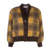 Sea New York Amber Check Cardigan - Marrom