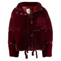 Hilfiger Collection Velvet Puffer Jacket - Vermelho