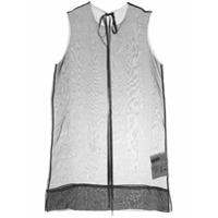 Uma Wang Blusa De Seda Translúcida - Preto