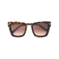 Tom Ford Eyewear Óculos De Sol Quadrado - Marrom
