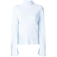 Khaite Blusa De Gola Alta - Azul