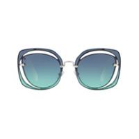 Miu Miu Eyewear Óculos De Sol Gatinho - Azul