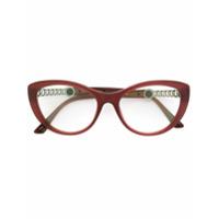 Bulgari Armação De Óculos Gatinho - Rosa