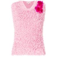 Delpozo Blusa Assimétrica Com Textura - Rosa