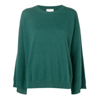 Fine Edge Cashmere Sweater - Green
