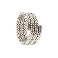 John Hardy Pulseira Dot Triple Coil - Prateado