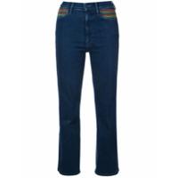 Mother Calça Jeans Cropped - Preto