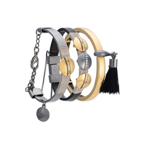 Imagem de Camila Klein Kit 3 pulseiras - Metálico
