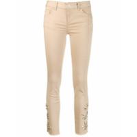 Liu Jo Calça Jeans Cropped Ideal - Neutro