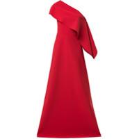Greta Constantine Vestido De Festa Anysia De Um Ombro Só - Vermelho