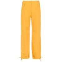 Egrey Calça Cropped Com Bolsos - Amarelo