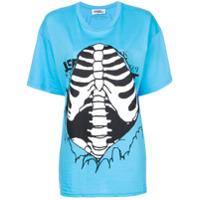Jeremy Scott Camiseta Canelada Com Estampa - Azul