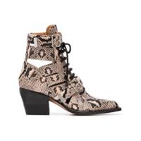 Chloé Ankle Boot 'rylee 60' De Couro - Neutro