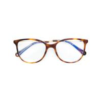 Chloé Eyewear Armação De Óculos Redonda - Marrom