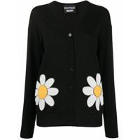 Boutique Moschino Cardigan De Tricô Floral - Preto
