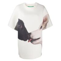Benetton Camiseta Com Animal Print - Branco