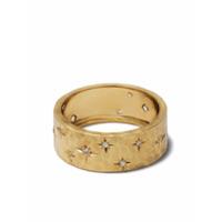 Feidt Paris Anel Soleils De Ouro 9K Com Quartzo - Dourado