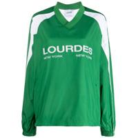 Lourdes Blusa Mangas Longas Com Estampa De Logo - Verde