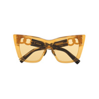 Balmain Eyewear Óculos De Sol X Akoni - Amarelo