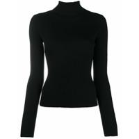 Diesel Suéter M-Kimberly Com Gola Alta - Preto