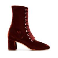 Le Monde Beryl Ankle Boot Com Cadarço - Vermelho