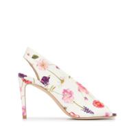 Luisa Beccaria Sapato Com Estampa Floral E Salto Agulha - Branco