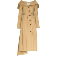 A.w.a.k.e. Mode Trench Coat Ombro A Ombro - Neutro